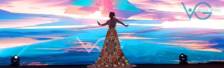 VG шоу, заказать 3Д шоу, заказать 3D шоу, 3D платье маппинг на 3д платье, заказать 3д маппинг шоу, 3D маппинг шоу, 3Д проекционное шоу, видео платье, 3Д артист, 3D маппинг артист, 3Д певица, 3D шоу Киев